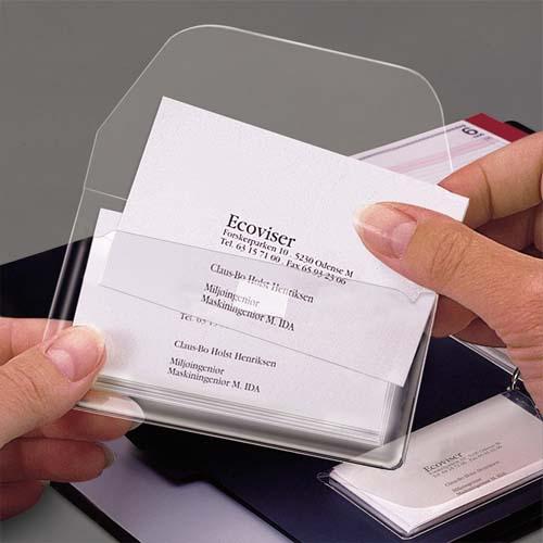 Sachet De 10 Porte Carte Visite Avec Rabat Adhesif Repositionnable Format 60x105mm