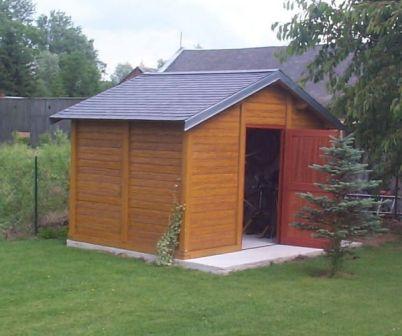 Abri de jardin en béton aspect Bois - Abri jardin béton ...
