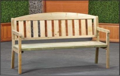 Banc de jardin moderne - Banc jardin en bois - Techni-Contact