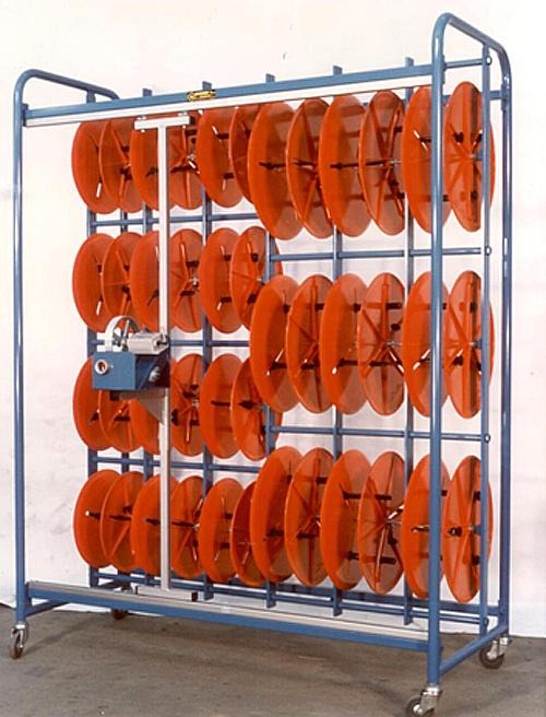 devidoir bobine fil electrique Dévidoir pour couronne de fils - Dévidoir avec 2 montants en tube acier -  Techni-Contact