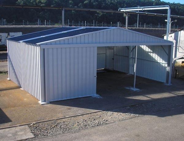 Bâtiment Métallique à Porte Coulissante Hangar De Stockage