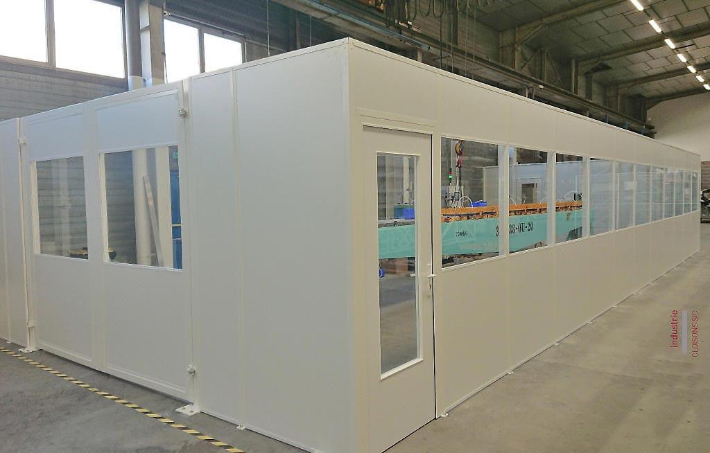 abdfe0514b6 Cloison d atelier tôlée autoportante - Portes coulissantes - Techni-Contact