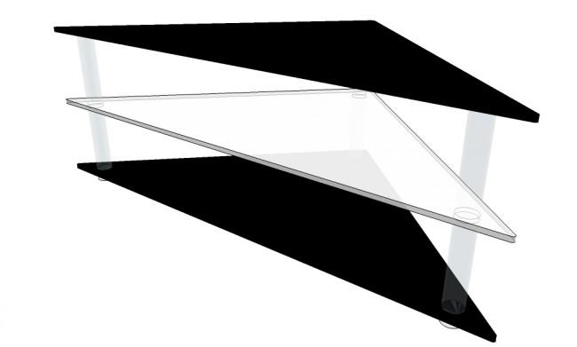 bas prix 5e56f 34513 Table Tv d'angle en plexiglas