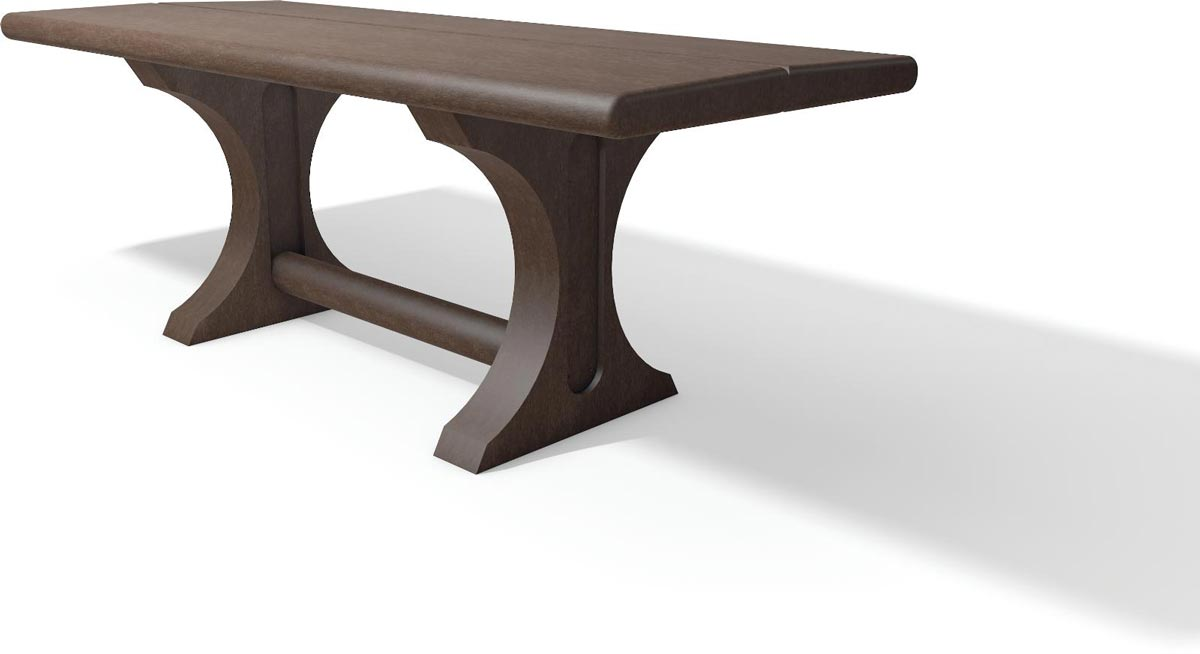Table pique nique plastique recyclé marron