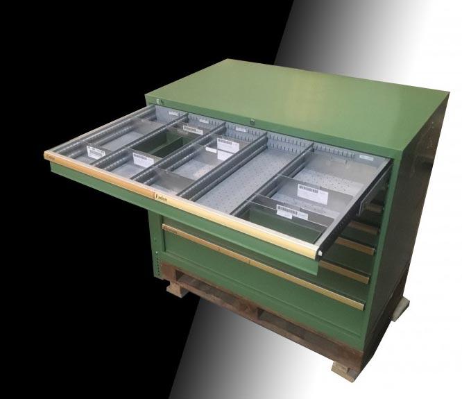 Armoire d\'atelier à tiroirs occasion - Armoire de rangement occasion ...