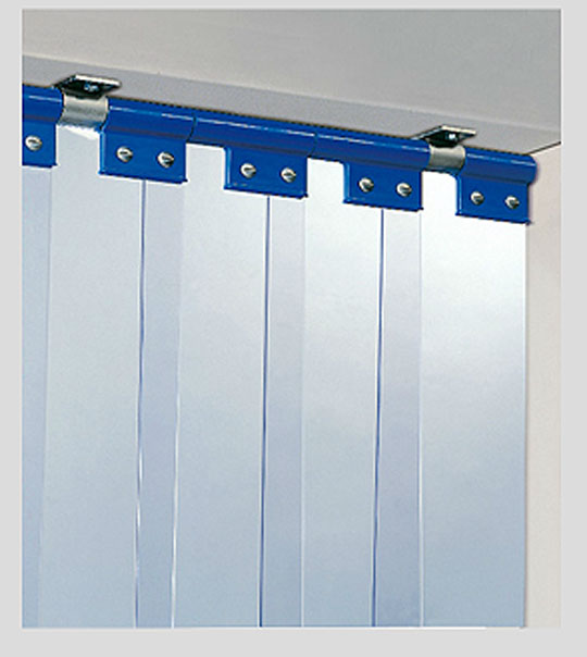Porte chambre froide en inox et lanières pvc - Porte souple ...