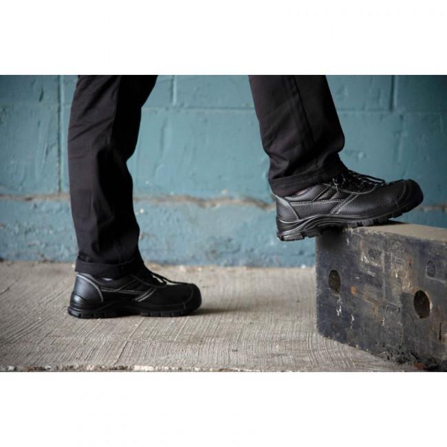De Noire Protection Basse Chaussure Cuir PkZiOXuT