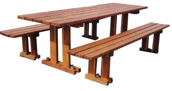 Table Et Banc En Mélèze Table Pour Aires De Jeux Techni Contact