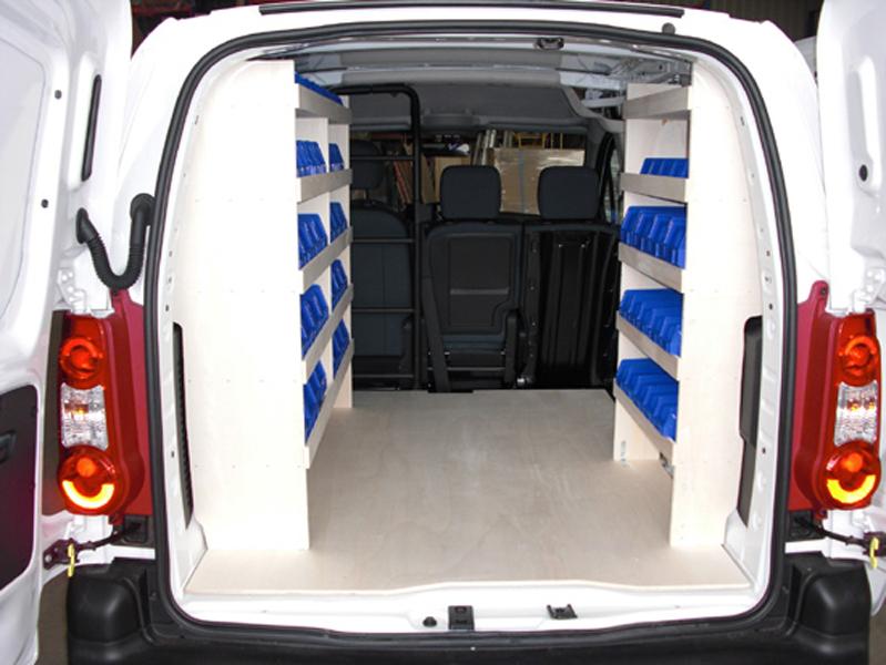 Kit de rangement sur Citroën Berlingo : Devis sur Techni-Contact - Rangement avec casiers tiroirs