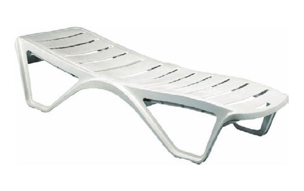 Chaise Longue Plastique De Piscine Bain De Soleil Résine Monobloc