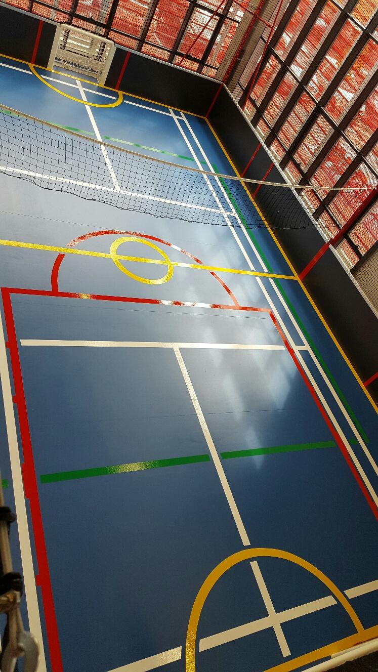 Sol Terrain De Basket marquage sol multisports : devis sur techni-contact