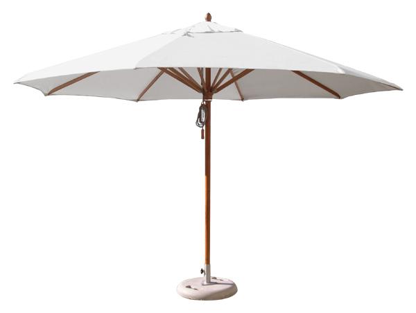 Parasol en bois pour terrasse   Parasol avec armature eucalyptus