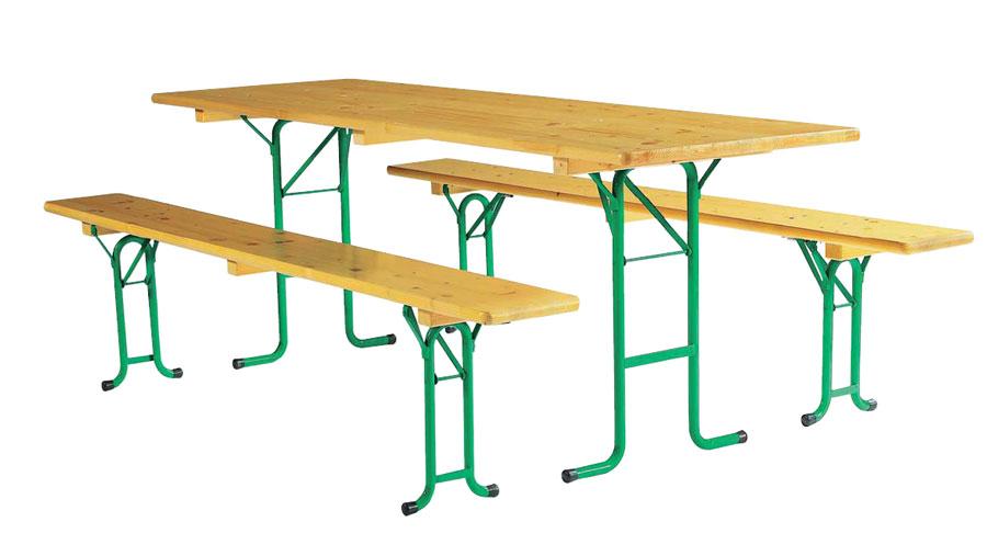 Ensemble Table Et Banc Pliant Bois Table Réctangulaire Techni