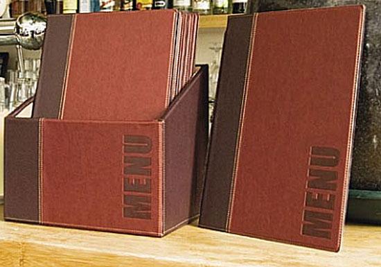 Securit Wood Prot/ège-Menu de Restaurant avec 20 prot/èges-Cartes de Restaurant A4 /à Pochette Double Vert