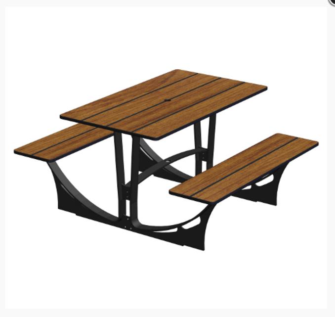 Table Pique Nique 4 Places A Cheviller Commandez Sur Techni