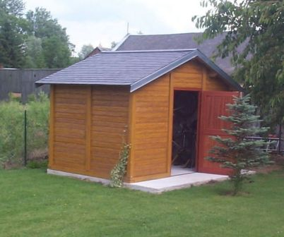 Abri de jardin en béton aspect Bois - Abri jardin béton - Techni-Contact