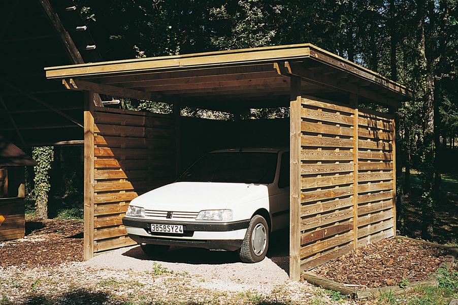 Abri de voiture en bois techni contact voitures for Arret voiture garage