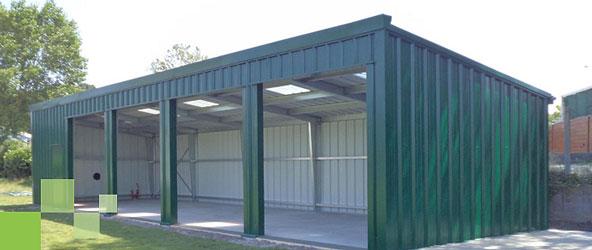 Hangar Galvanisé Kit batiment métallique simple pente - hangar métallique monopente