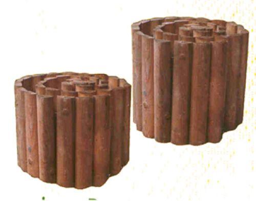 Prix sur demande for Bordure jardin demi rondin bois