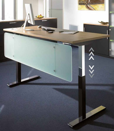 Bureau Assis Debout Moteur Electrique Table Assis Debout Techni