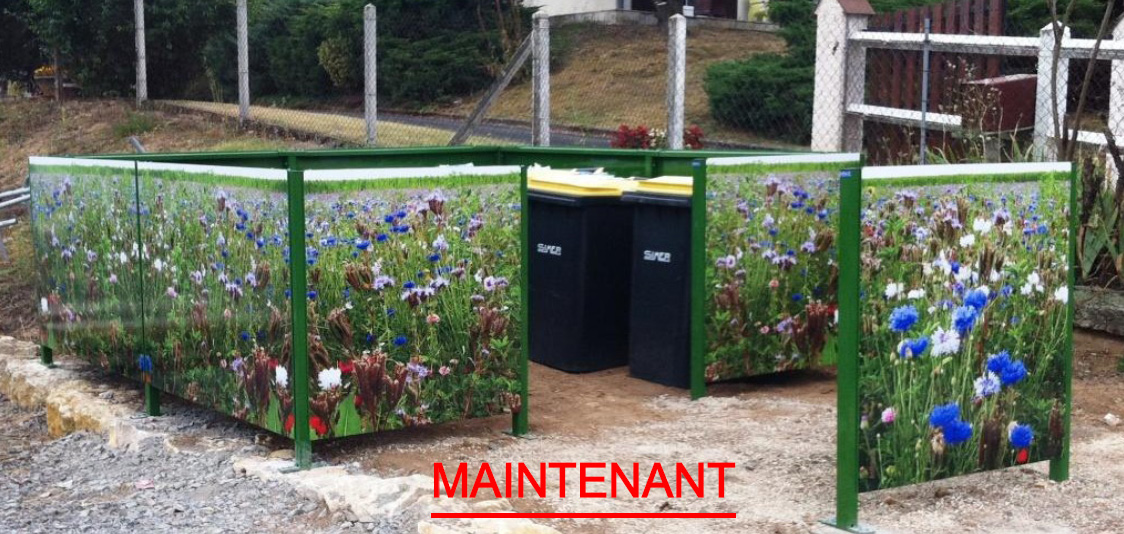 Trancheuse professionnelle - Cache conteneur poubelle ...