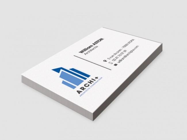 Carte De Visite Papier Calque Polyester Blanc 014 Mm