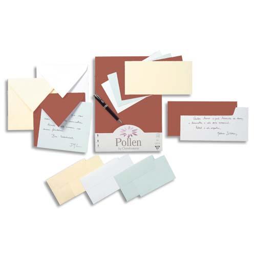 CLAIREFONTAINE Paquet De 20 Enveloppes Carte Visite Pollen Format 90x140mm Coloris Cacao 120g Rf 5231