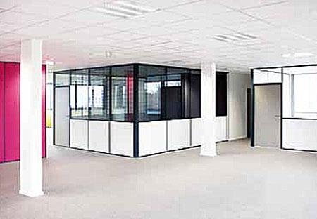 Cloison de bureau aluminium aménagement des locaux techni contact