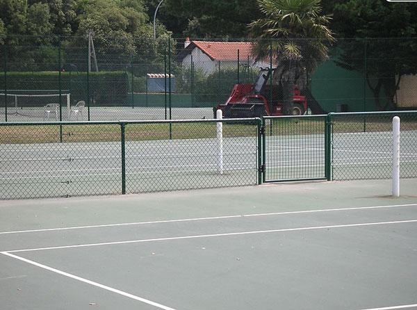 Trancheuse professionnelle for Terrain de tennis prix