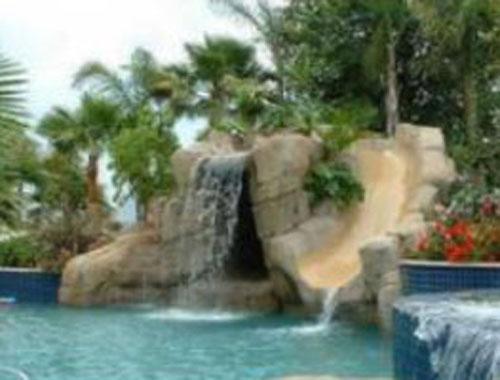 Prix sur demande for Decor rocher piscine