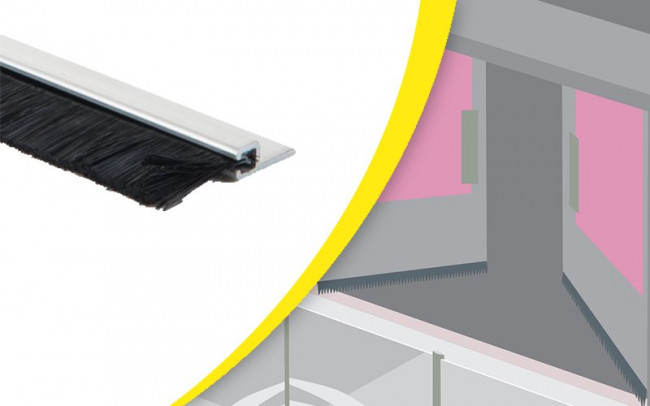 Joint Brosse Pour Porte Brosse Détanchéité Pour Portes Techni - Porte placard coulissante jumelé avec ouvrir une porte blindée