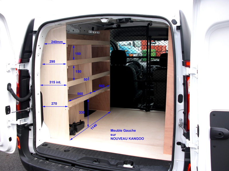 latest kit de rangement pour renault kangoo kits intrieurs with armoire rangement balai aspirateur. Black Bedroom Furniture Sets. Home Design Ideas