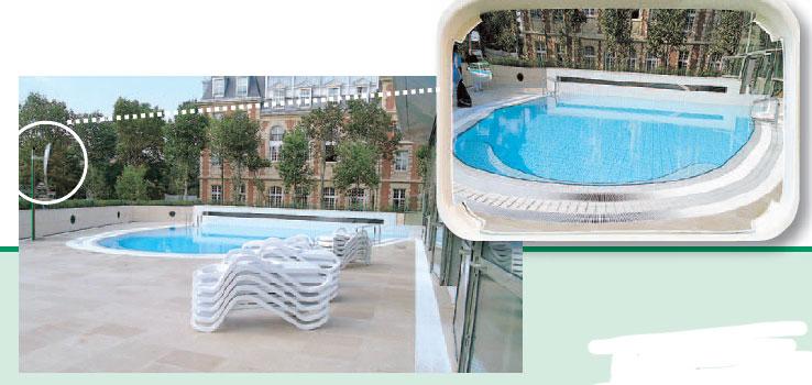 Code fiche produit 5354226 for Goulotte pour piscine miroir
