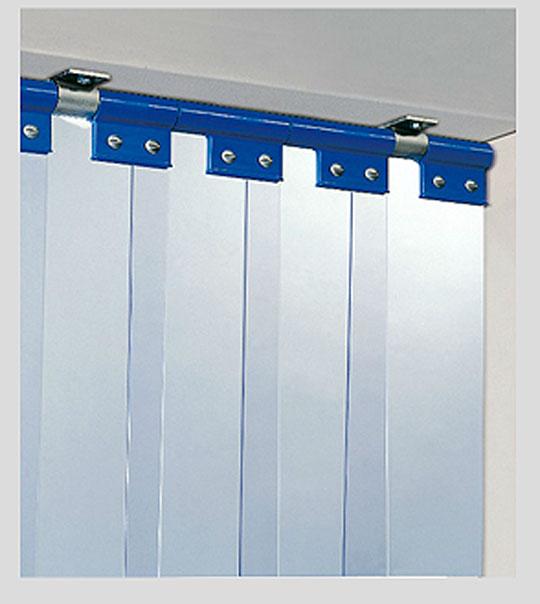 Porte chambre froide en inox et lanières pvc - Porte souple pour l ...