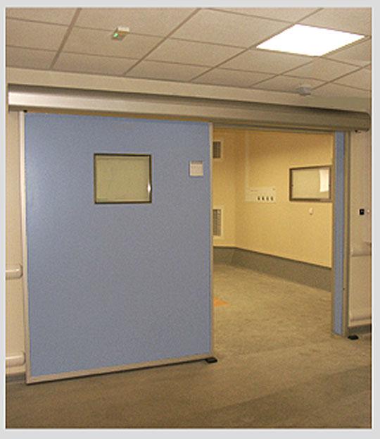 Porte étanche Coulissante Pour Salle Blanche Et Laboratoire Porte - Porte placard coulissante jumelé avec blindage