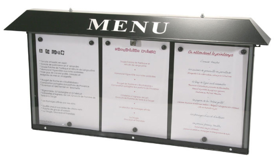 Ht for Porte menu lumineux exterieur
