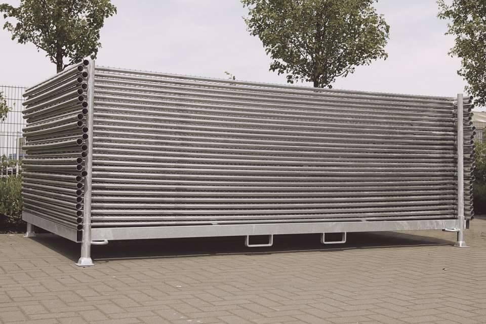 Rack de rangement clôtures de chantier grillagées : Devis sur Techni-Contact - Rack de rangement ...