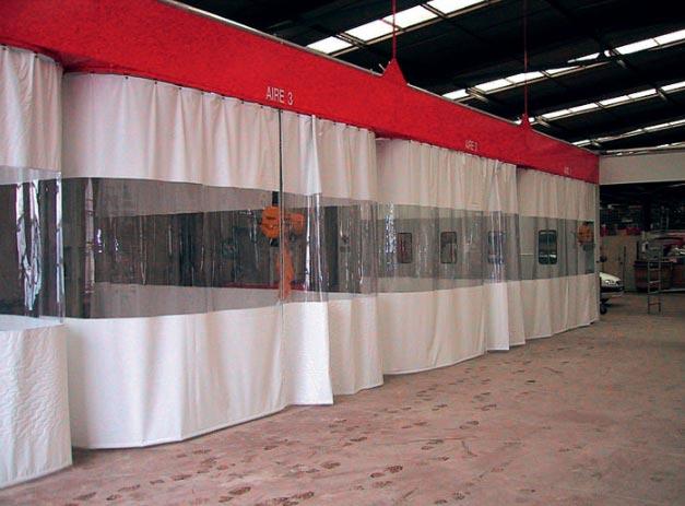 Rideau souple de protection industriel - Cloison de compartimentage ...