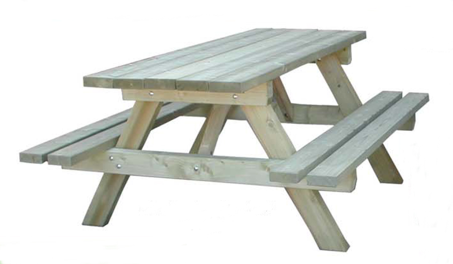 Table de restaurant for Table exterieur avec banc integre