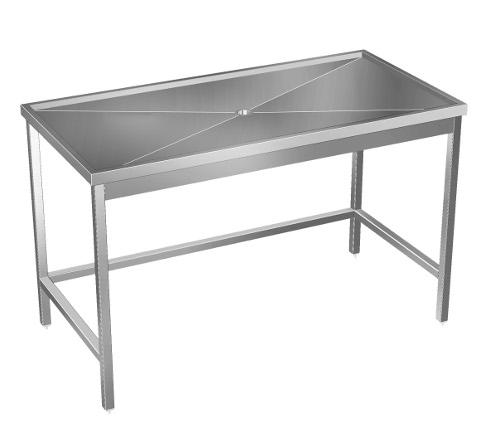 Table de débarrassage sur mesure en inox - Table de cuisine avec ou ... 44fd1f5f20f0