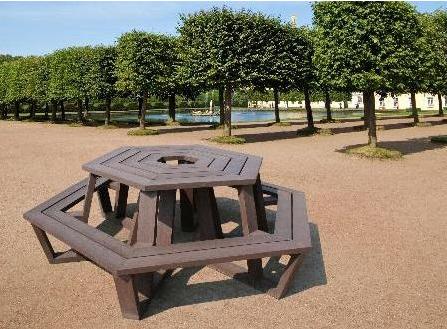 Table de jardin plastique recyclé - Table de jardin 12 places ...