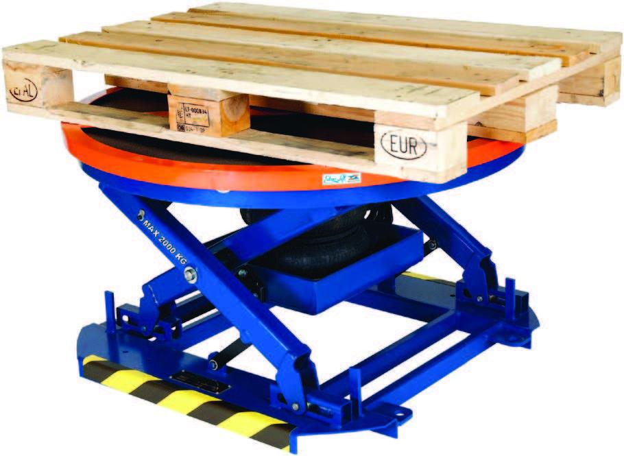 Table élévatrice a plateau tournant 360° - Table élévatrice plateau ...
