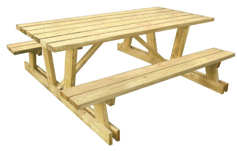 Table pique-nique bois autoclave - Table pour jardin - Techni-Contact