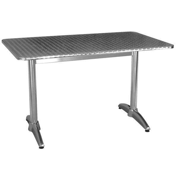 Ht - Table bistrot rectangulaire aluminium ...