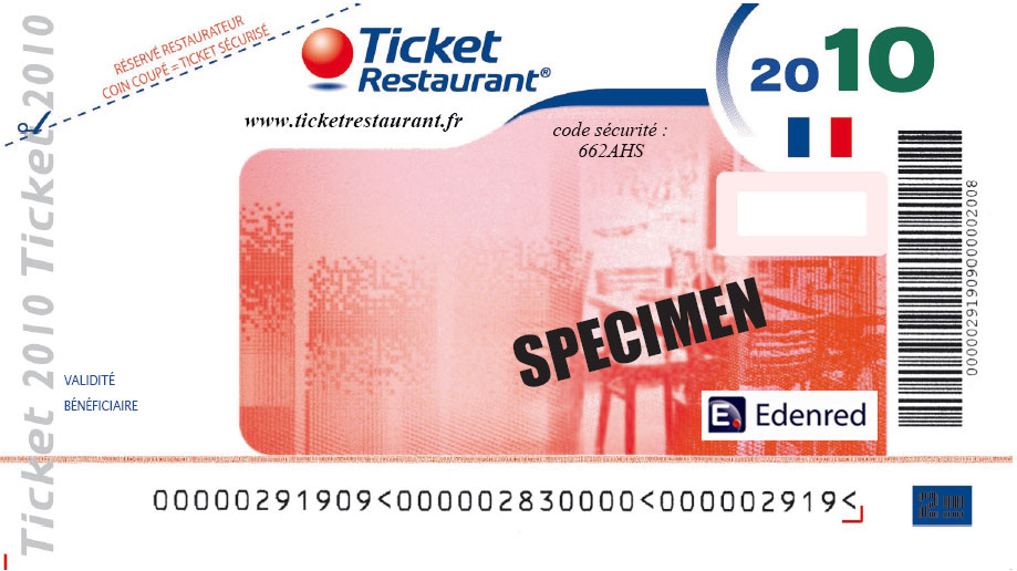 Valeur Titre Ticket Restaurant