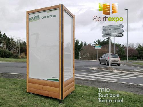 Totem Affichage Bois Sur Pieds  Panneau Affichage Bois  TechniContact