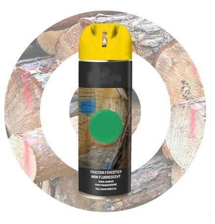 Traceur Forestier Non Fluorescent Bombe De Peinture Marquage Sol