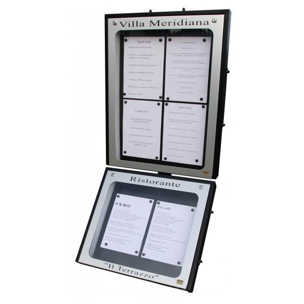 Vitrine Porte Menu Extérieur Vitrine Menu TechniContact - Porte menu exterieur