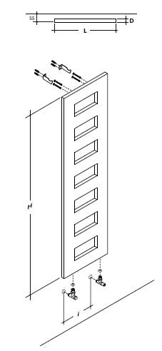 Design caract ristiques hauteur mm 1800 largeur mm 500 Porte serviettes chauffant