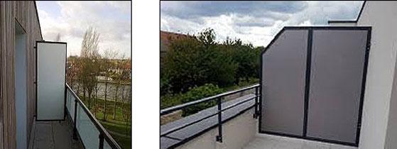 separation balcon s paratif balcon techni contact. Black Bedroom Furniture Sets. Home Design Ideas